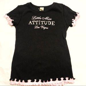 Kavio! Little Miss Attitude Las Vegas Glitter Tee
